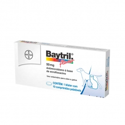 Bayer Baytril Flavour 50mg c/ 10comp